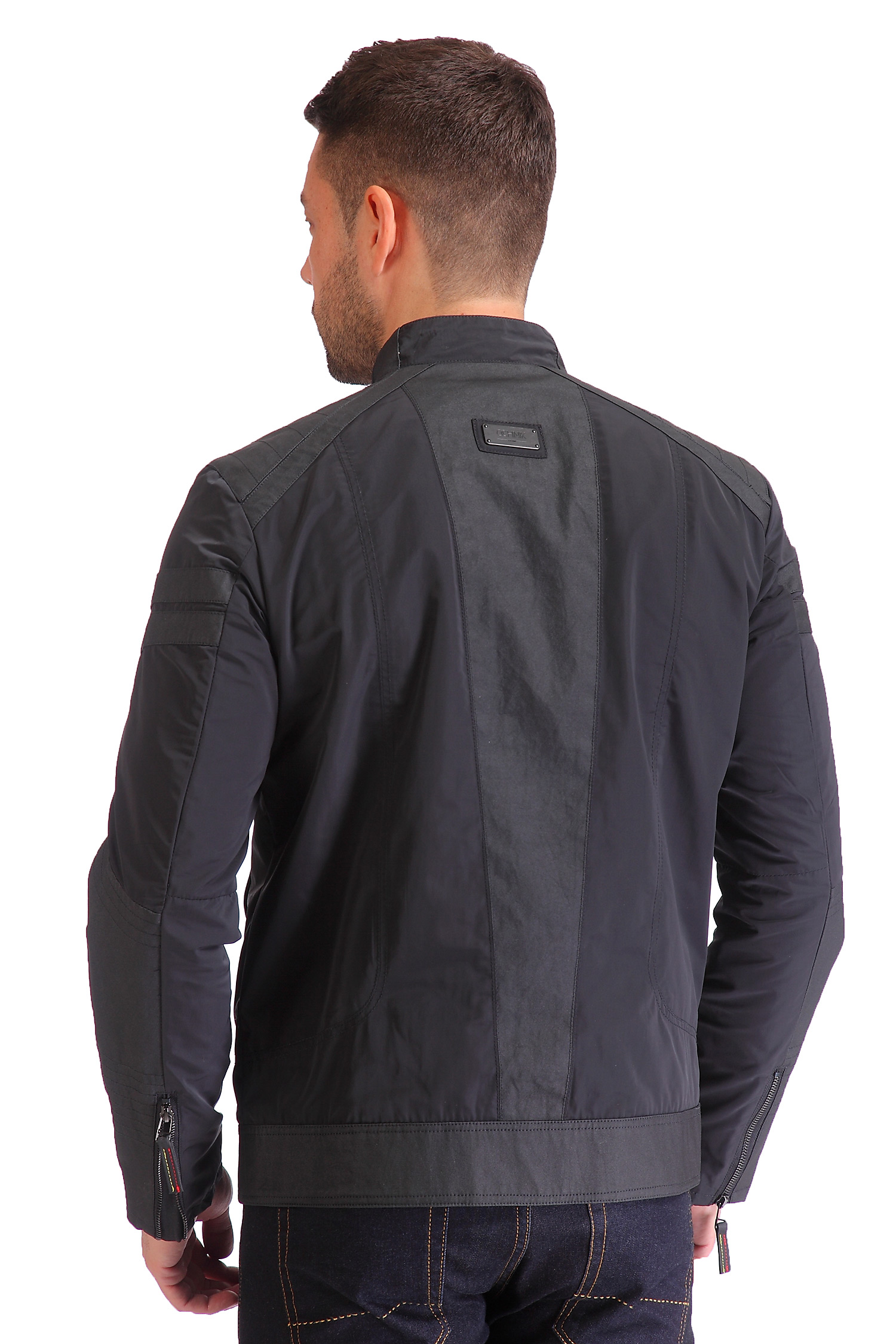 Фото 6 - Мужская куртка из текстиля с воротником от МОСМЕХА черного цвета