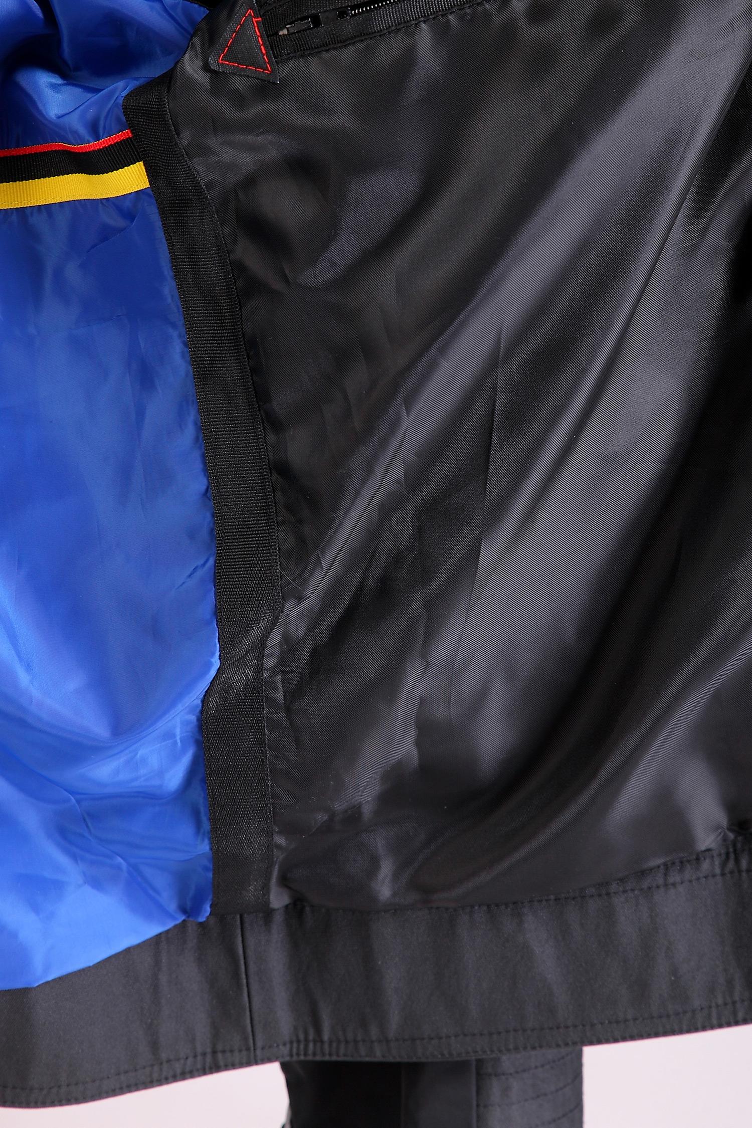 Фото 8 - Мужская куртка из текстиля с воротником от МОСМЕХА черного цвета