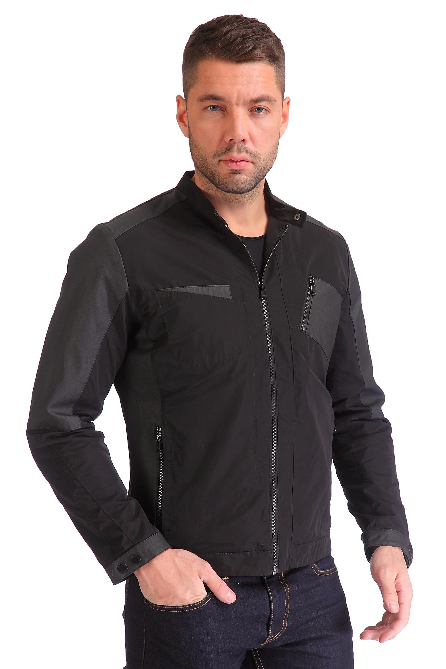Фото 9 - Мужская куртка из текстиля с воротником от МОСМЕХА черного цвета
