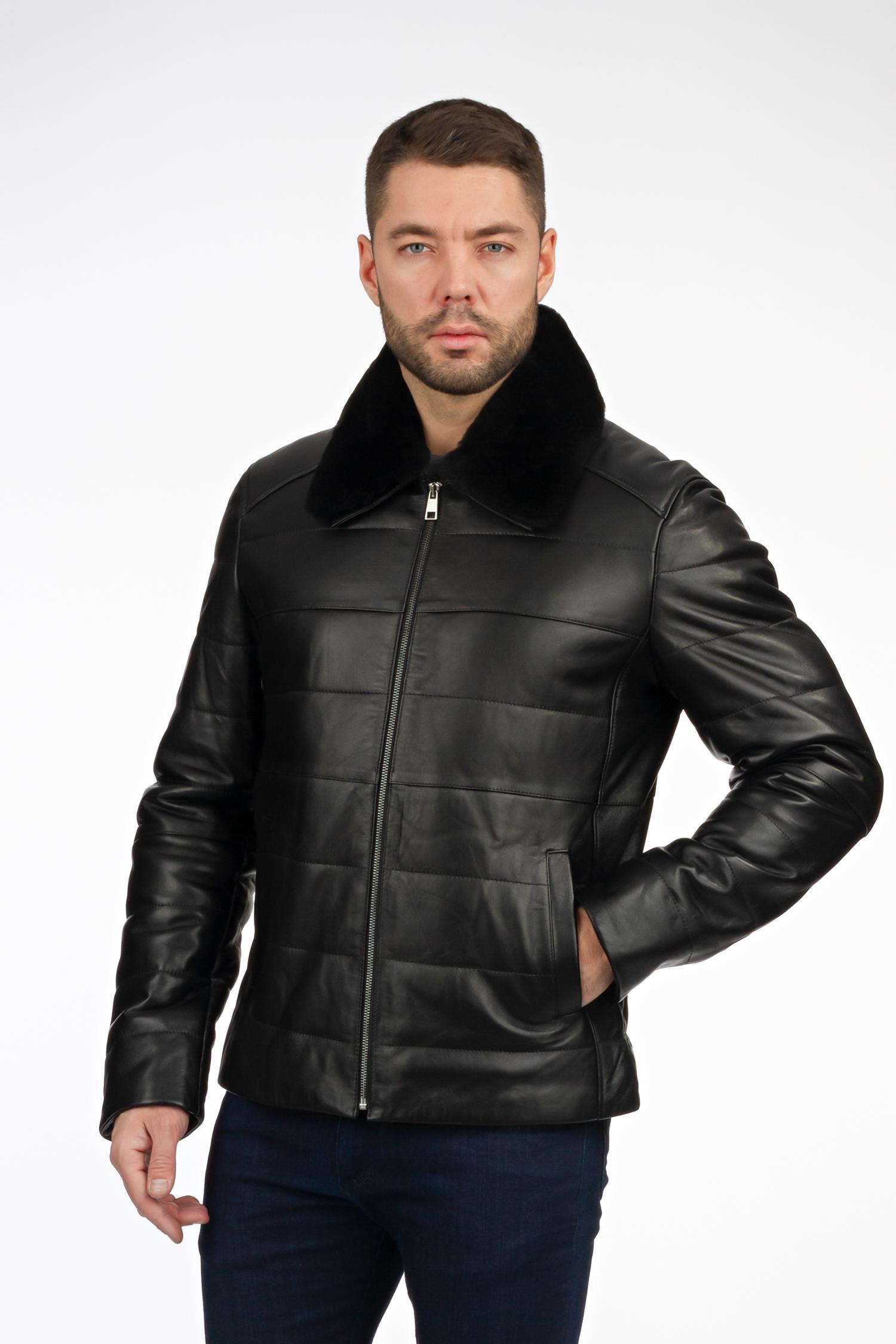 Мужская кожаная куртка из нату...