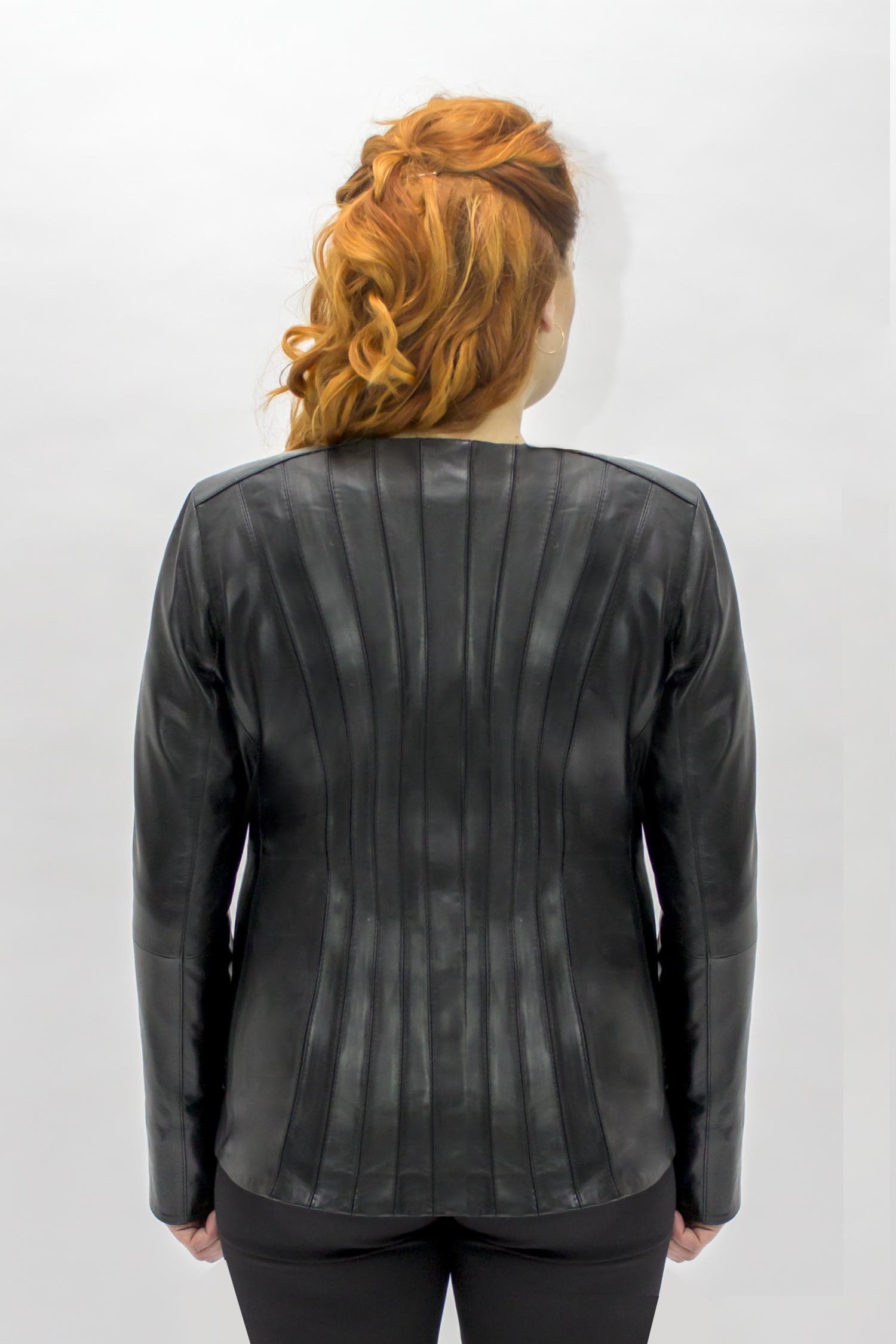 Дубленка женская из тосканы с капюшоном, без отделки