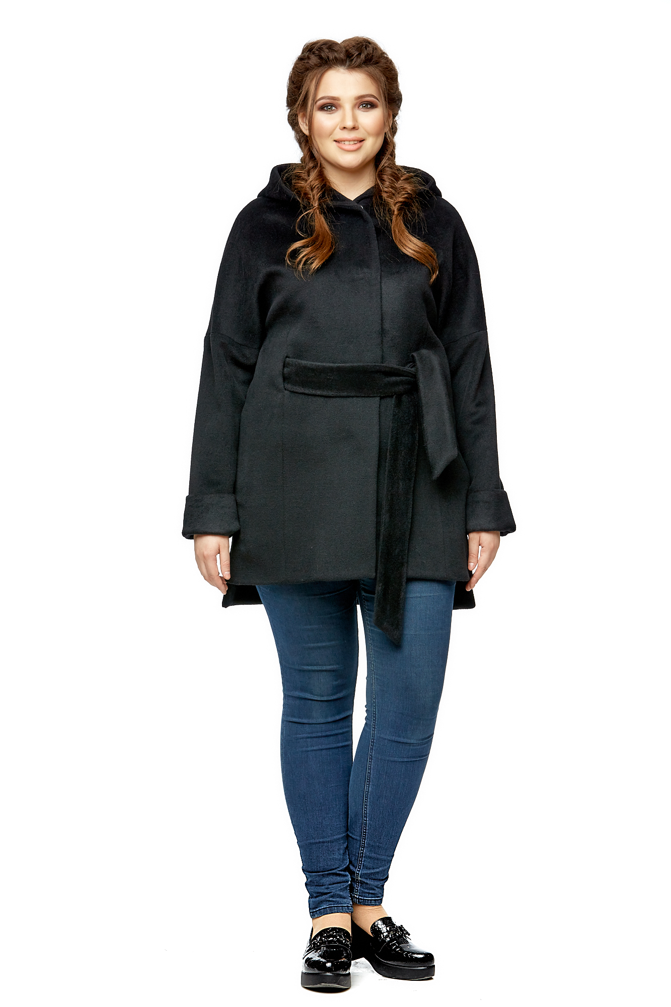 Женское пальто из текстиля МОСМЕХА