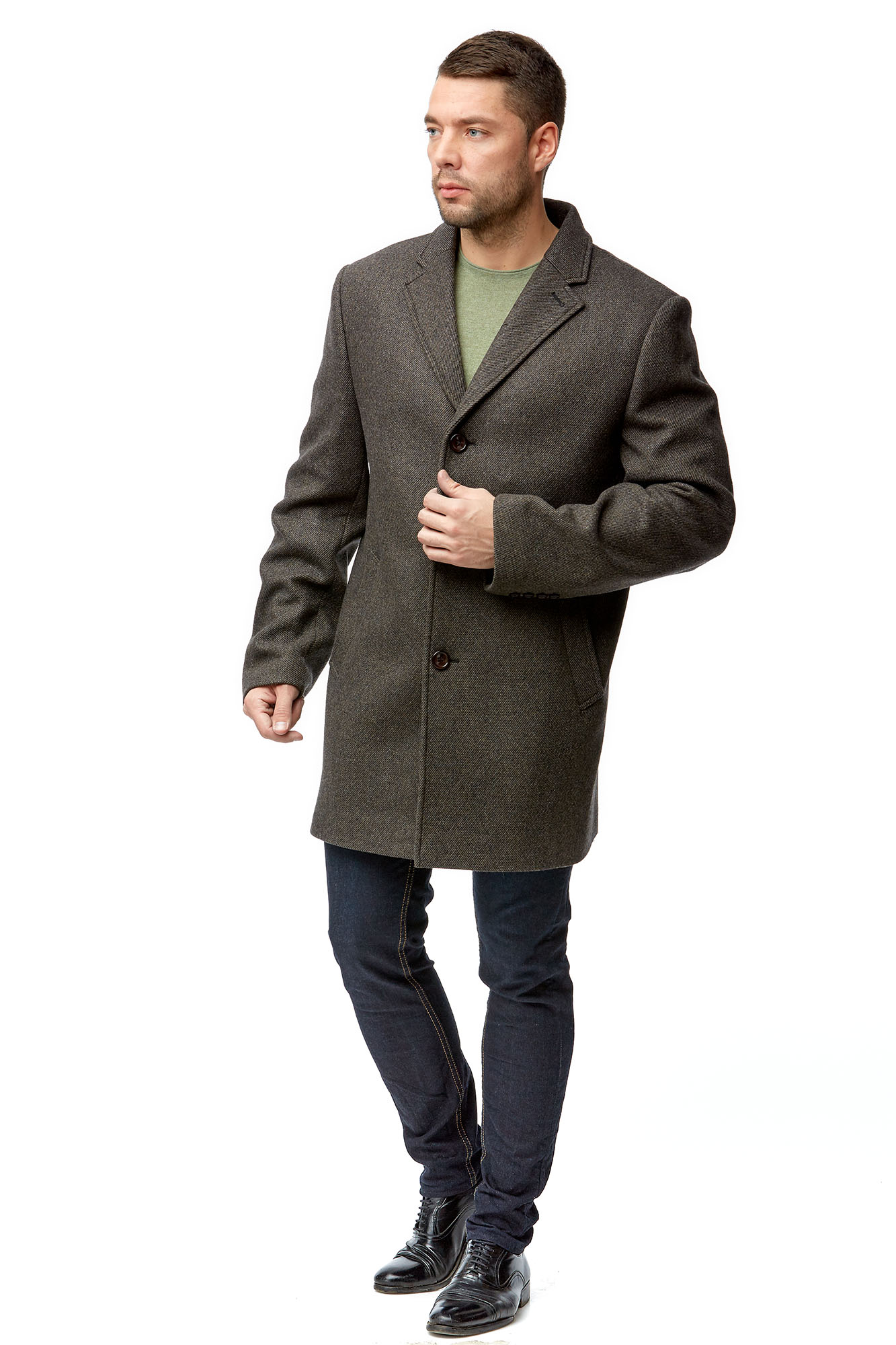 Мужское пальто из текстиля