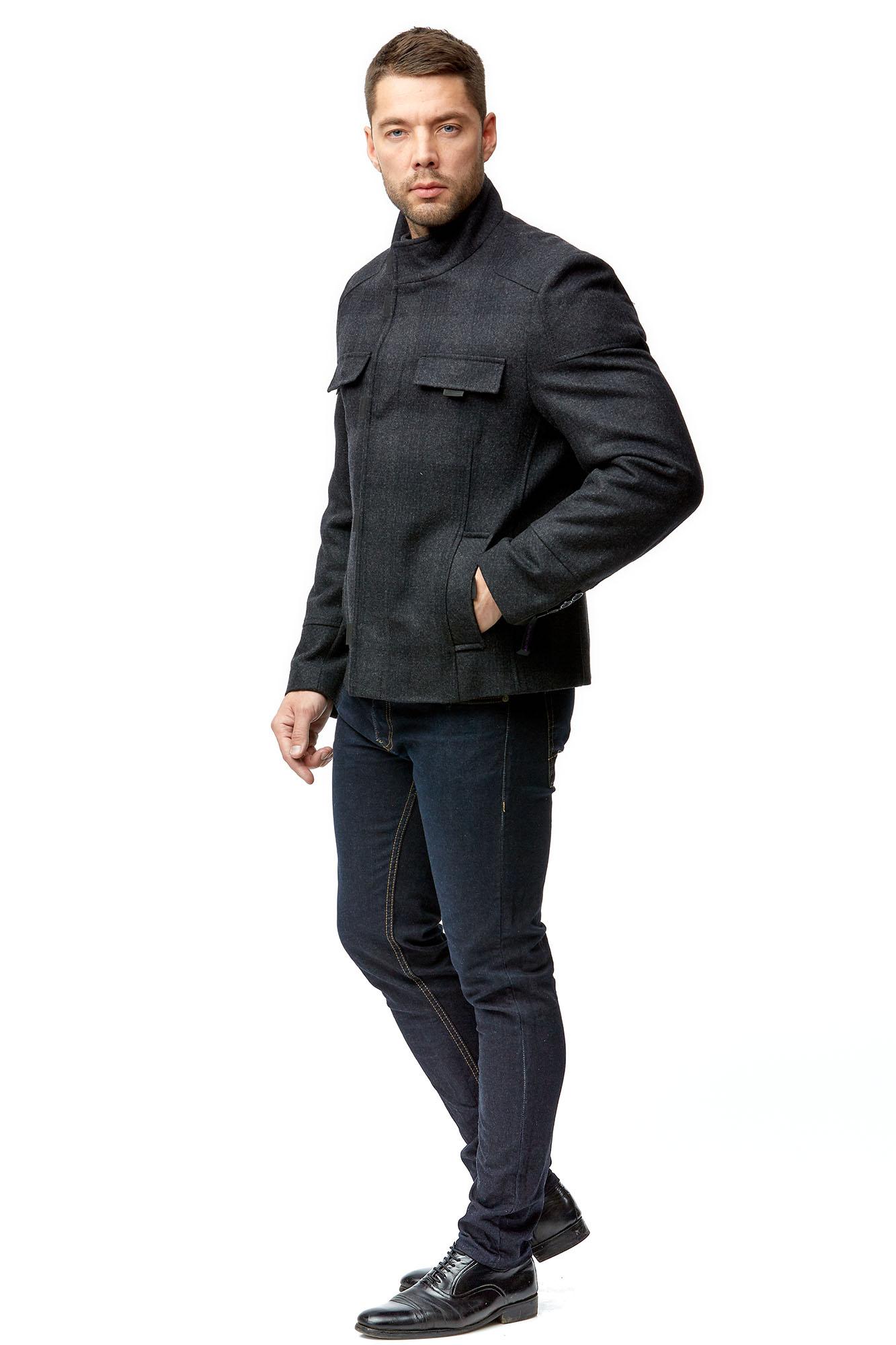 Мужское пальто из текстиля с воротником