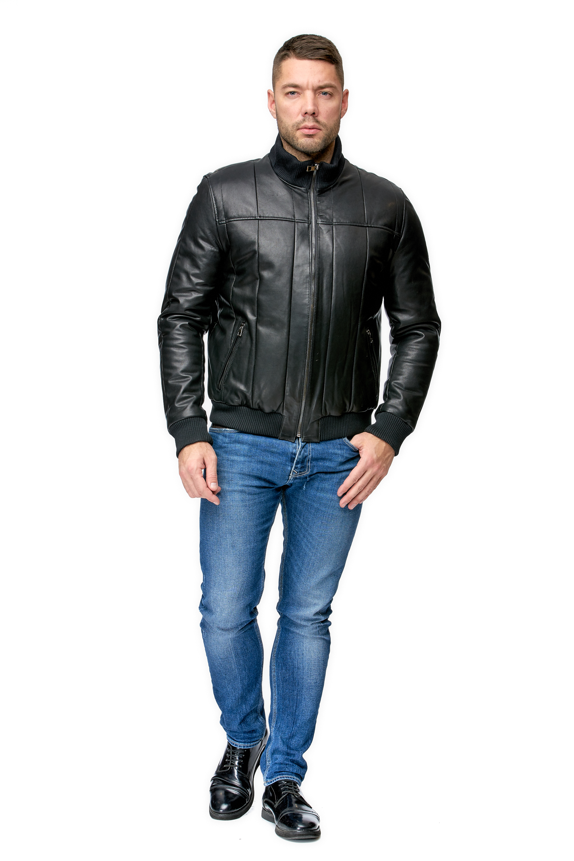 Мужская кожаная куртка из натуральной кожи МОСМЕХА