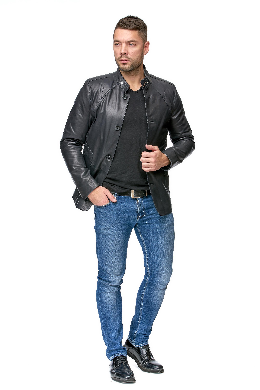 Купить со скидкой Мужская кожаная куртка из натуральной кожи