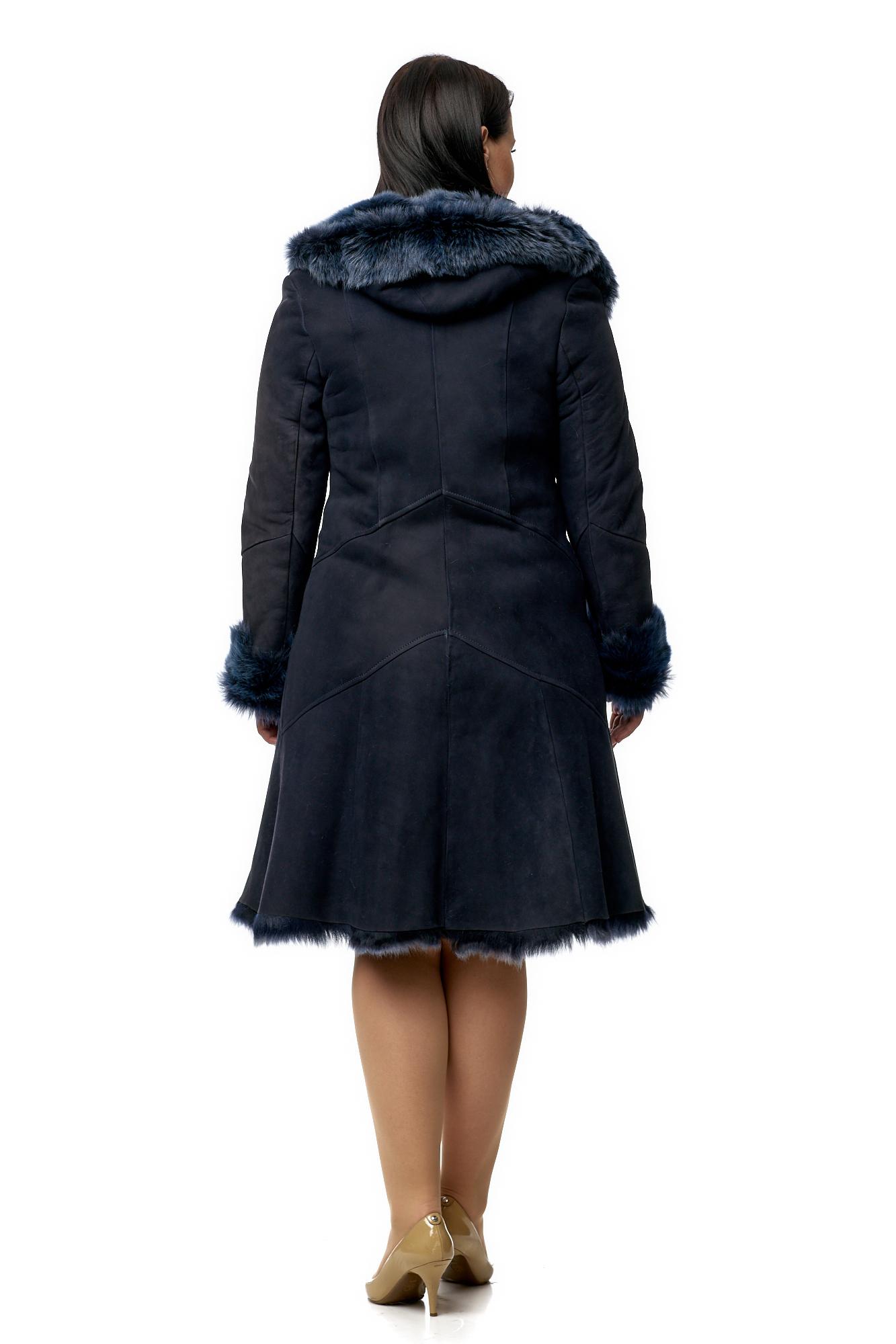 Дубленка женская из натуральной овчины с капюшоном фото 2