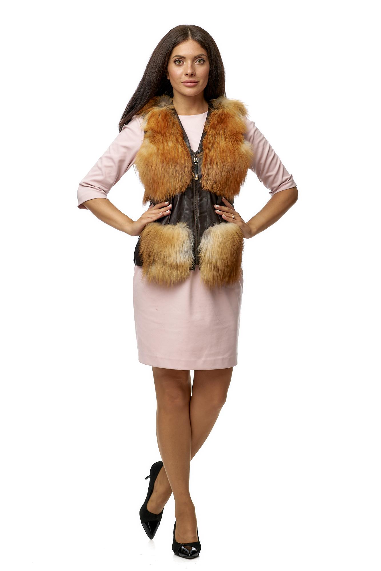 женские жилетки из лисы фото