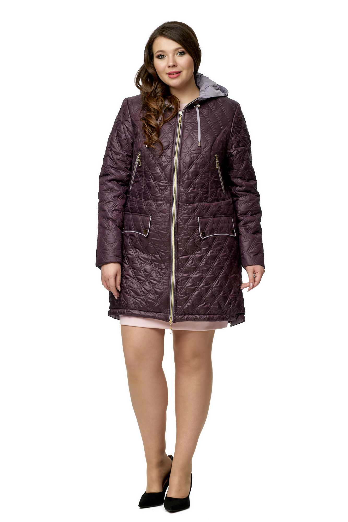 Куртка женская из текстиля с капюшоном