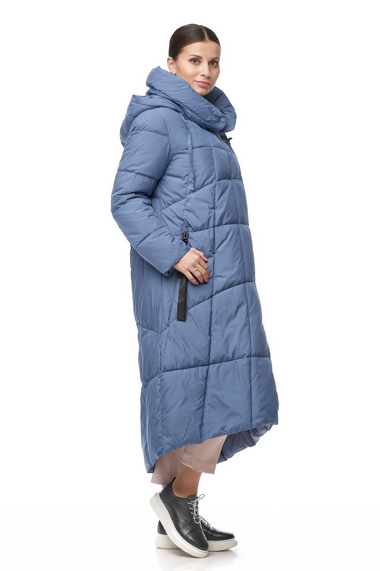 Пуховик женский из текстиля с капюшоном фото 2