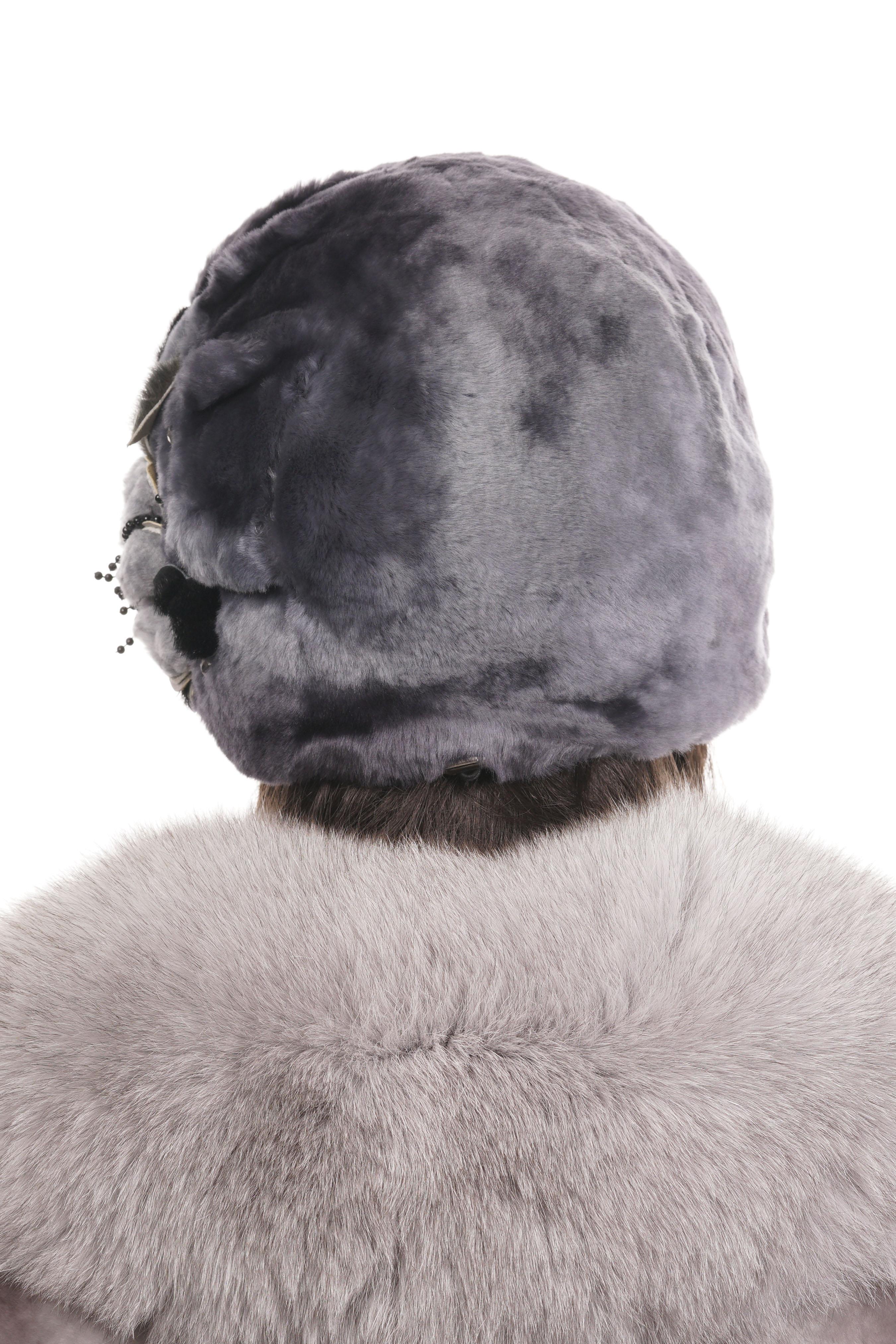 Шапка женская из мутона фото 3