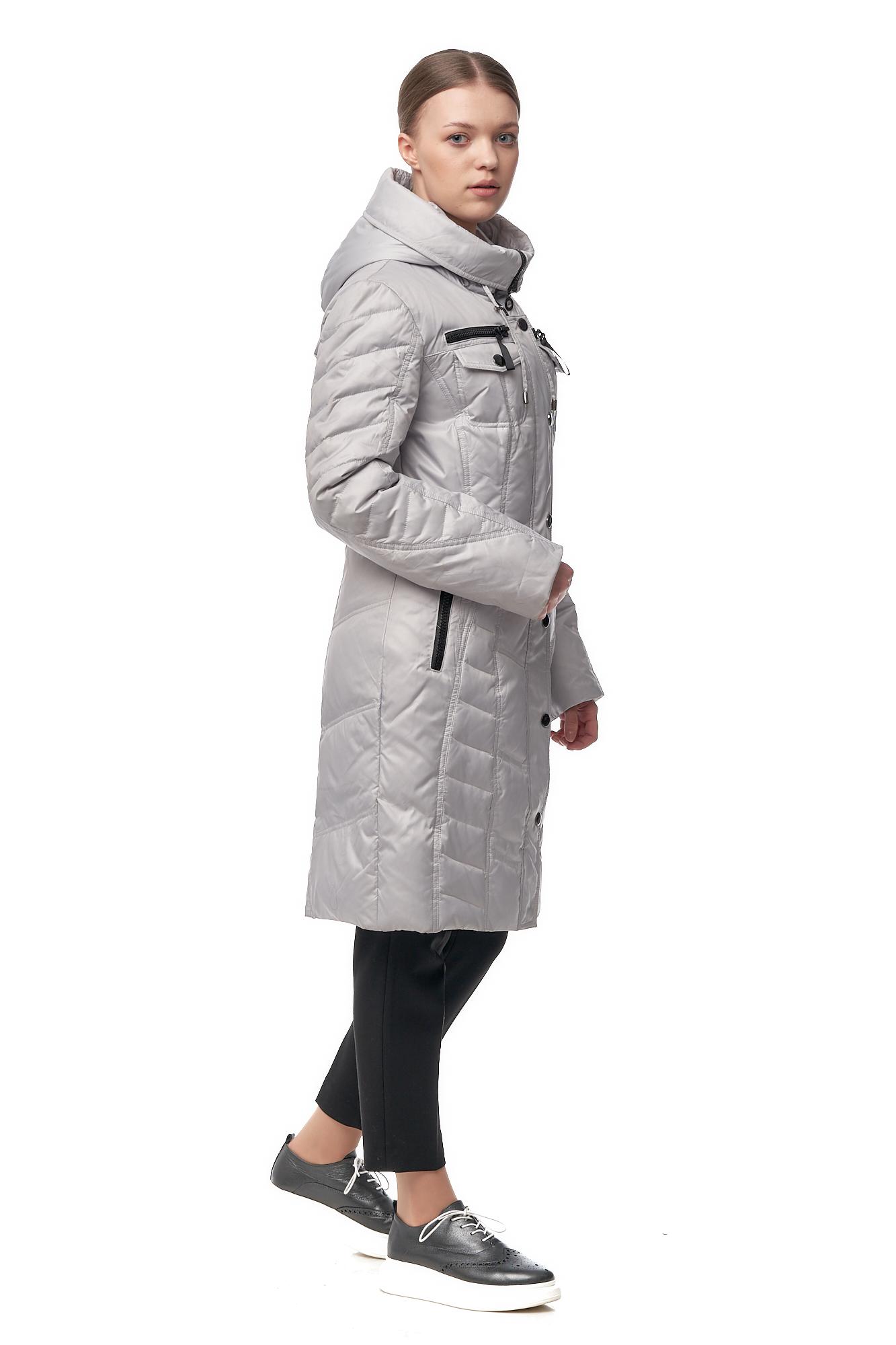 Женское пальто из текстиля с капюшоном фото 2