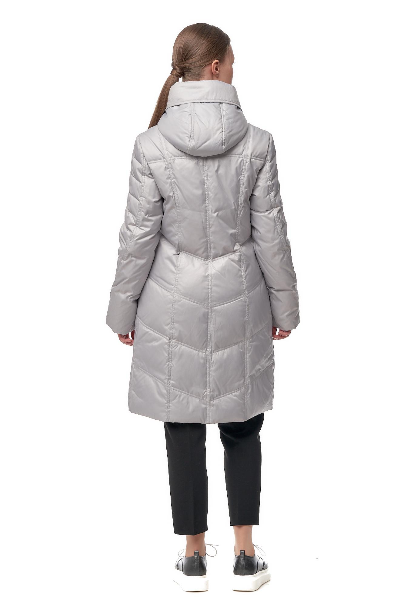 Женское пальто из текстиля с капюшоном фото 3