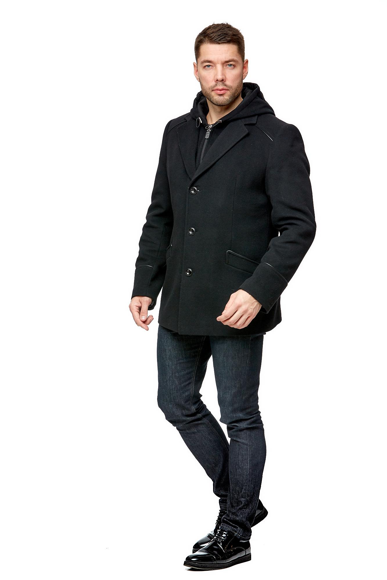 Мужское пальто из текстиля с капюшоном