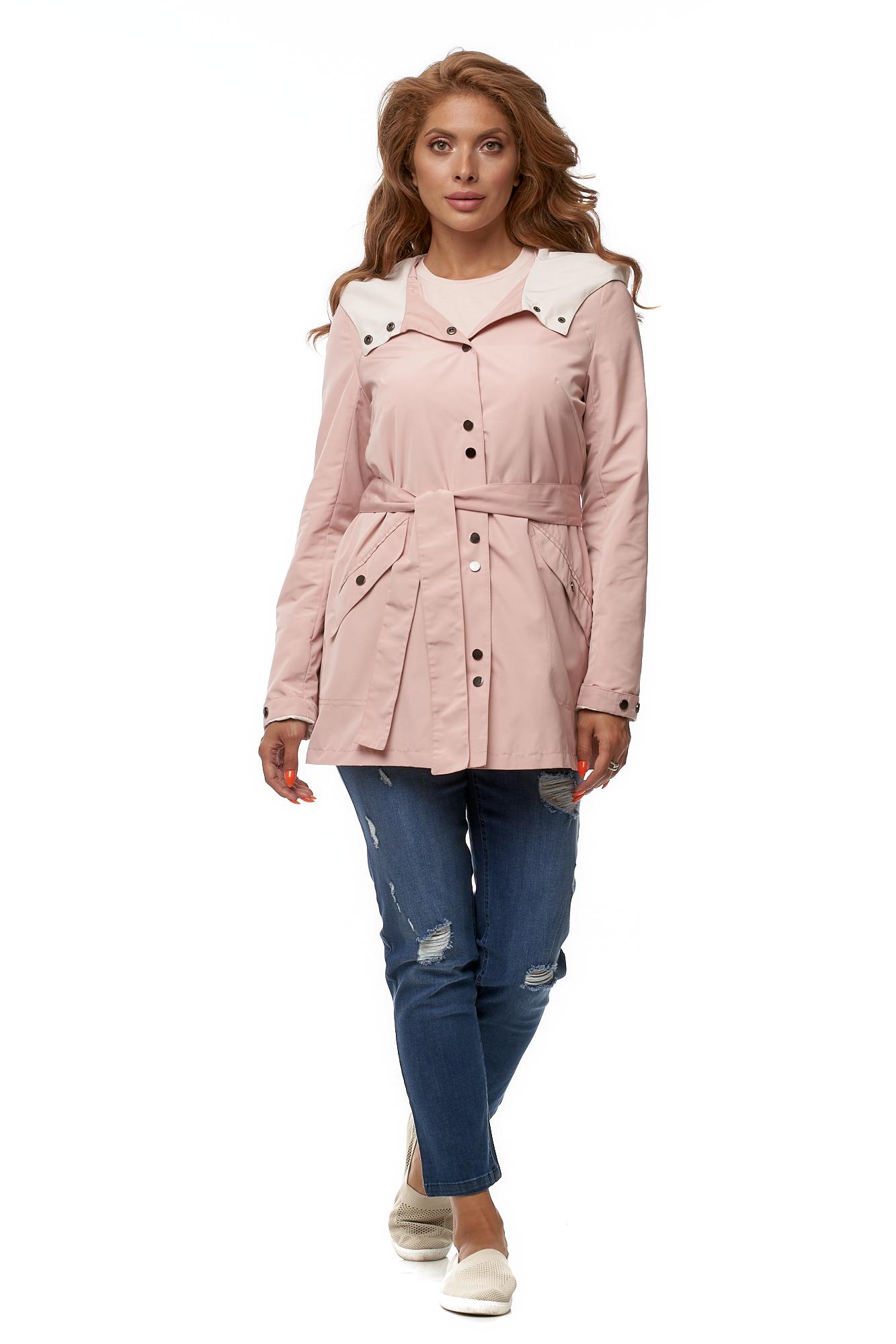 Куртка женская из текстиля с капюшоном фото 2