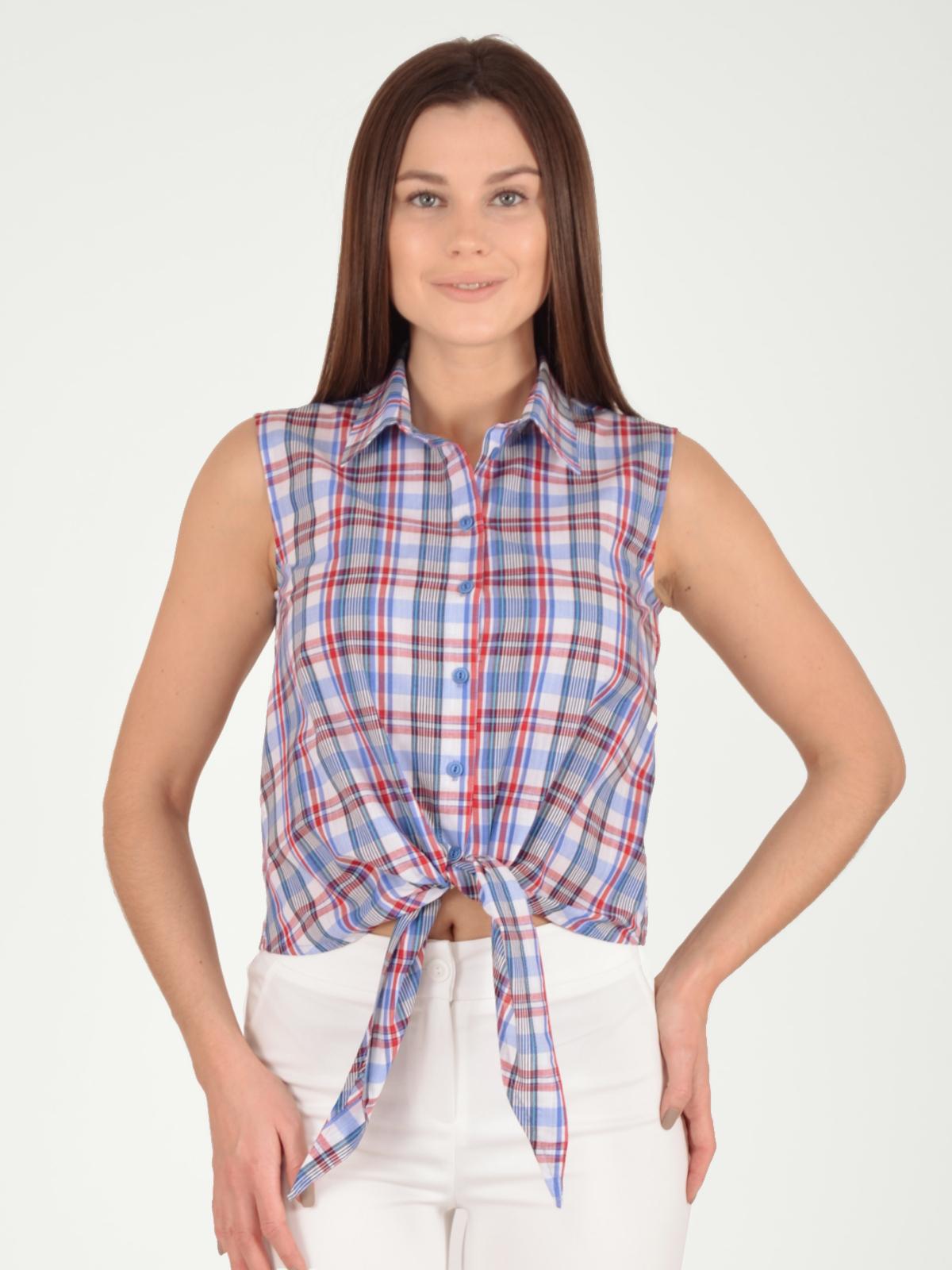 Купить со скидкой Блузка женская из текстиля