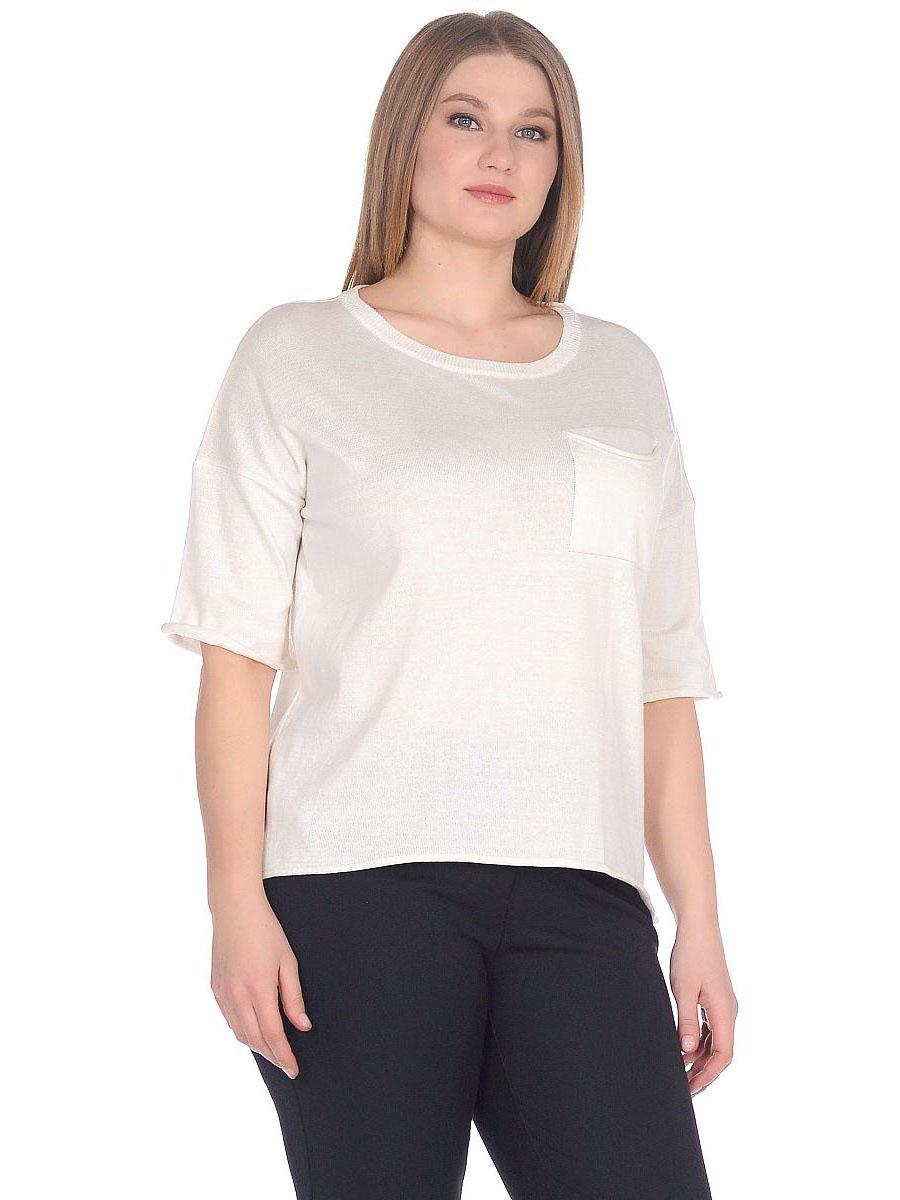 Купить Блузка женская из текстиля, МОСМЕХА, молочный, 6700179