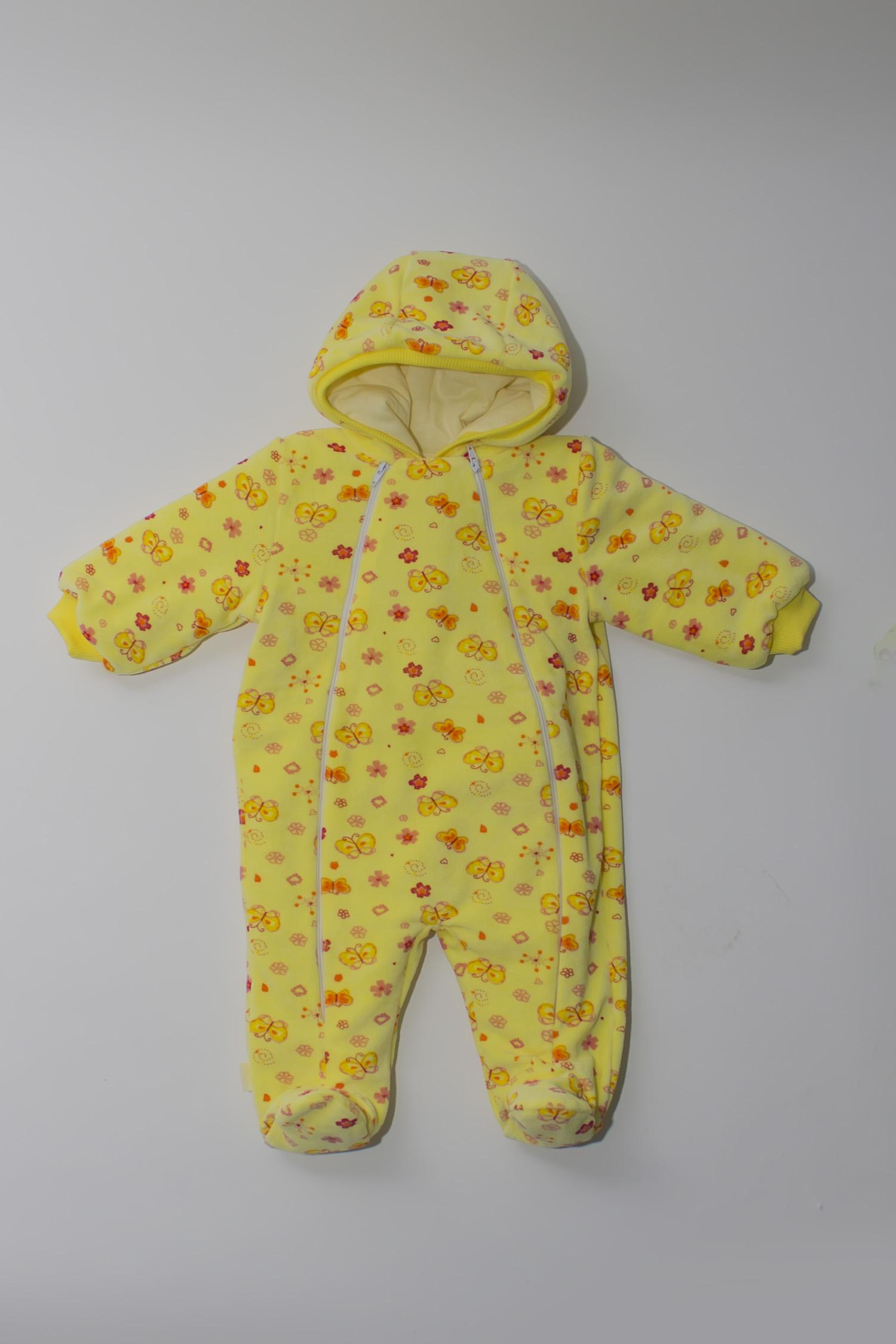 Купить со скидкой Комбинезон желтый из текстиля для малышей