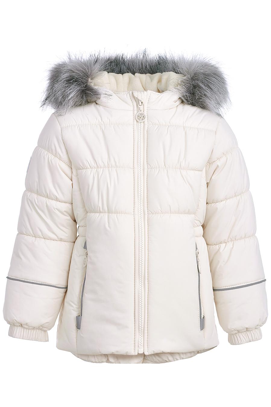 Купить со скидкой Куртка для девочек, отделка искусственный мех