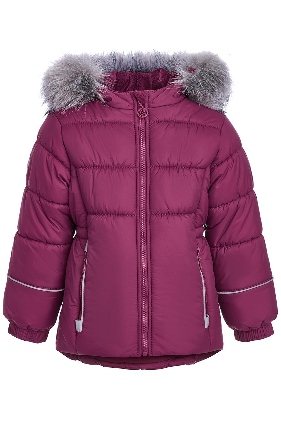 Куртка для девочек, отделка искусственный мех