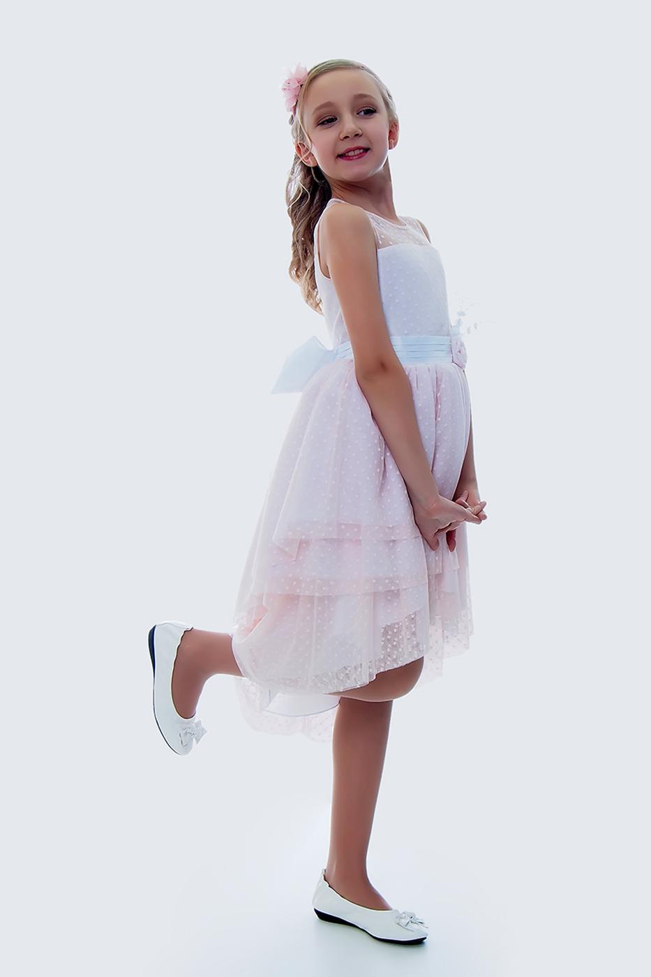 Купить Платье для девочек, МОСМЕХА, бежевый, 5100388