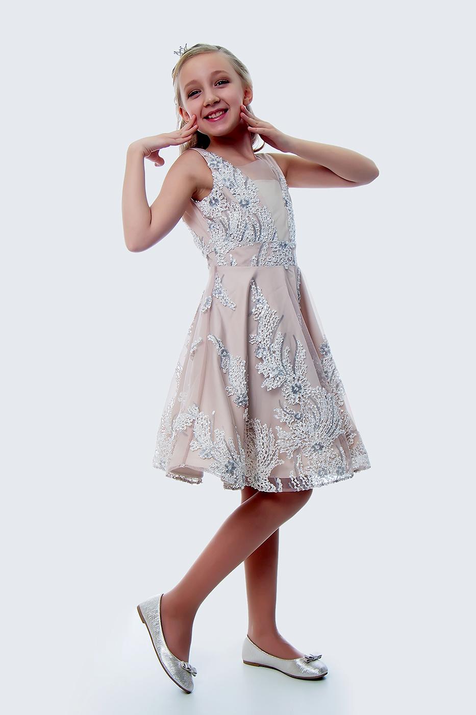 Купить Платье для девочек, МОСМЕХА, молочный, 5100392