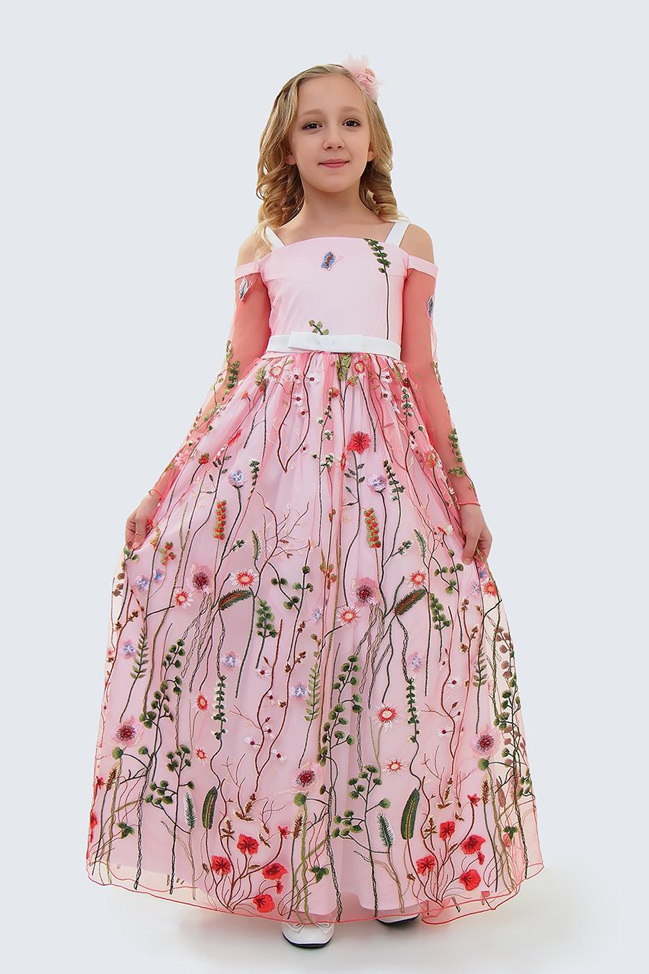 Купить Платье для девочек, МОСМЕХА, красный, 5100399