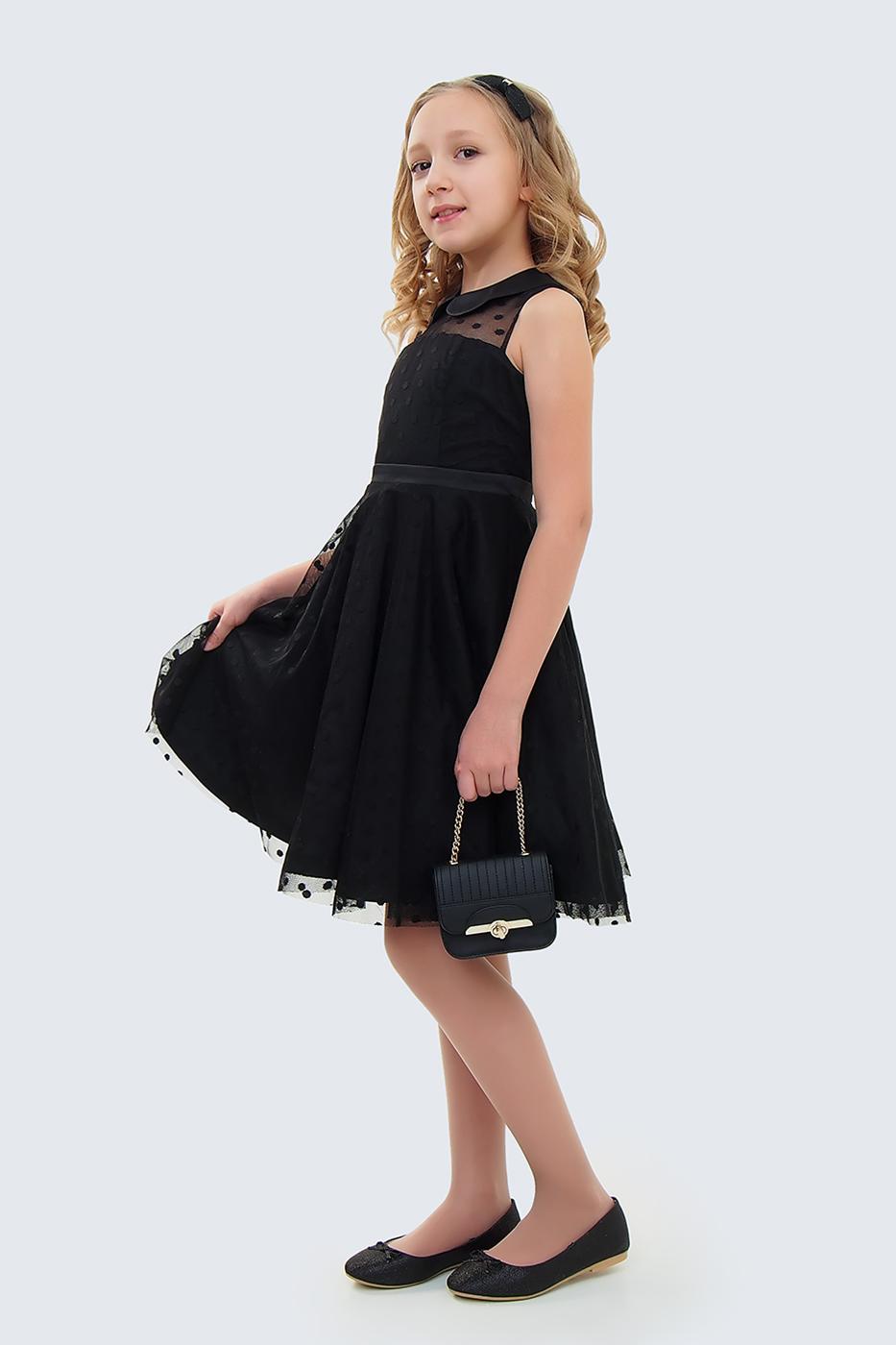Купить Платье для девочек, МОСМЕХА, черный, 5100406