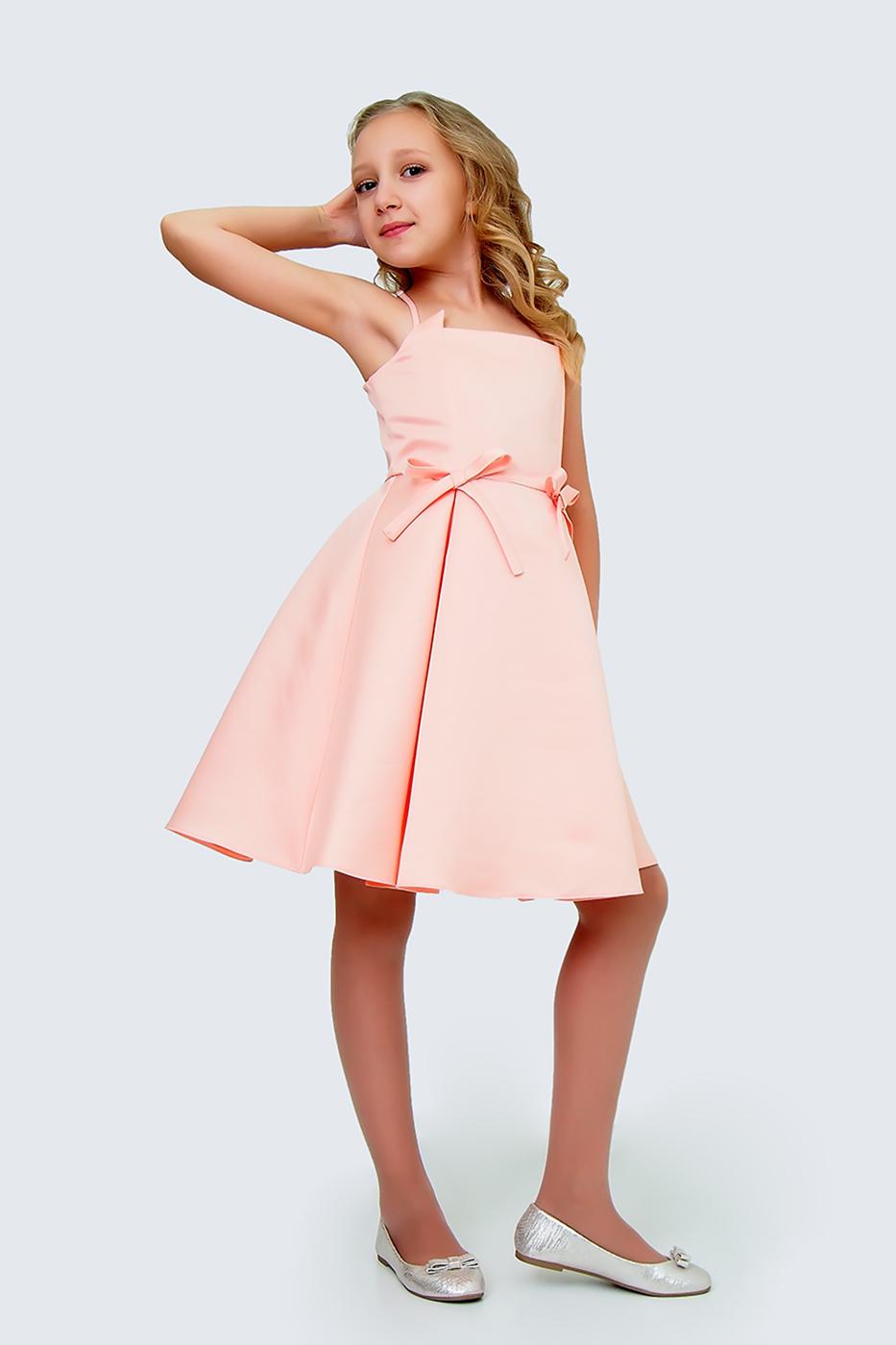 Купить Платье для девочек, МОСМЕХА, бежевый, 5100444