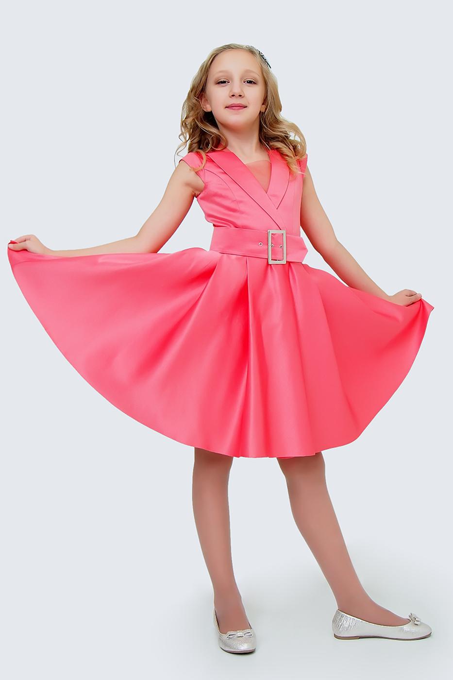 Купить Платье с ремешком для девочек, МОСМЕХА, красный, 5100452