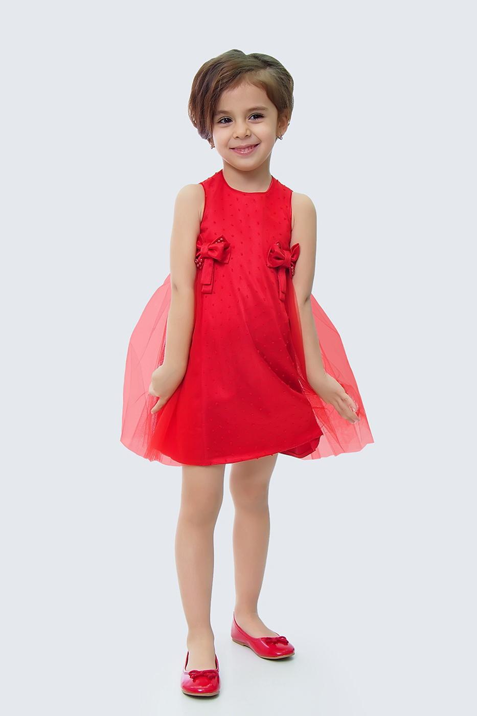 Купить Платье для девочек, МОСМЕХА, красный, 5100491