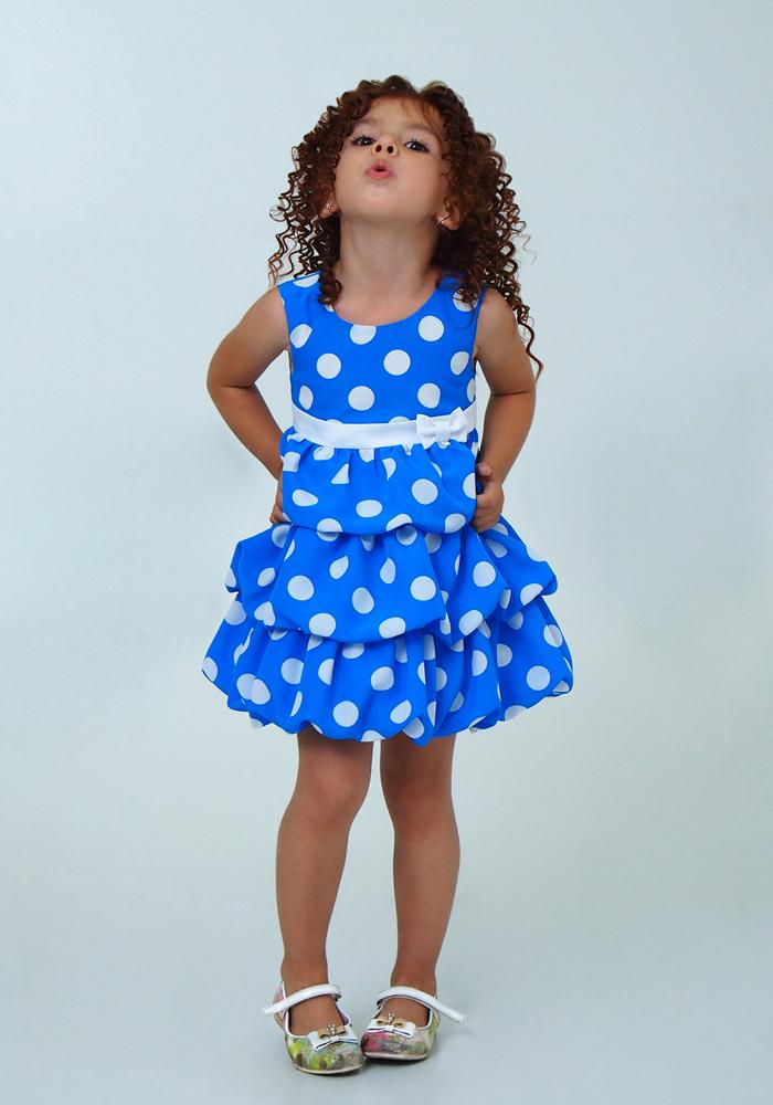 Купить Платье для девочек, МОСМЕХА, голубой, 5100655