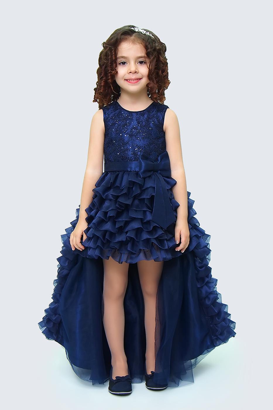 Купить Платье для девочек, МОСМЕХА, синий, 5100663