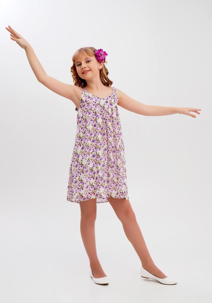 Купить Платье для девочек, МОСМЕХА, фиолетовый, 6500290