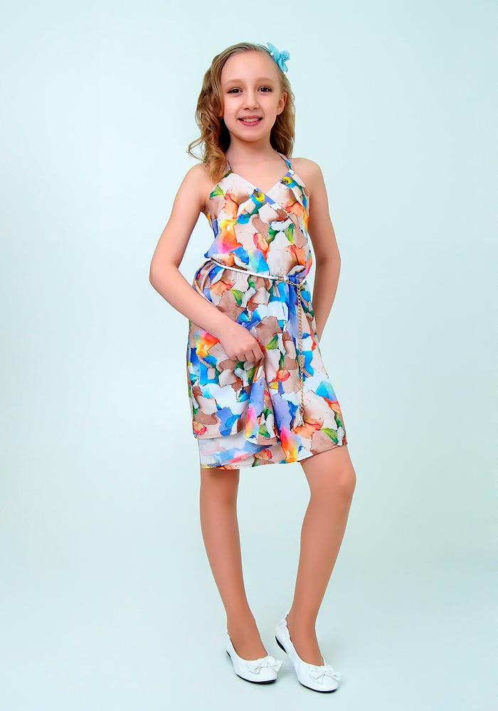 Купить Платье для девочек, МОСМЕХА, сиреневый, 6500312
