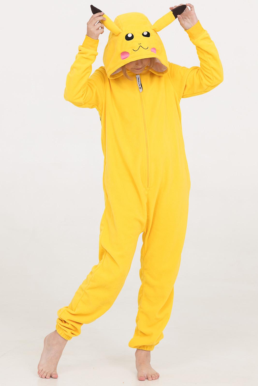 Купить со скидкой Комбинезон Кигуруми желтый для мальчиков и девочек из текстиля