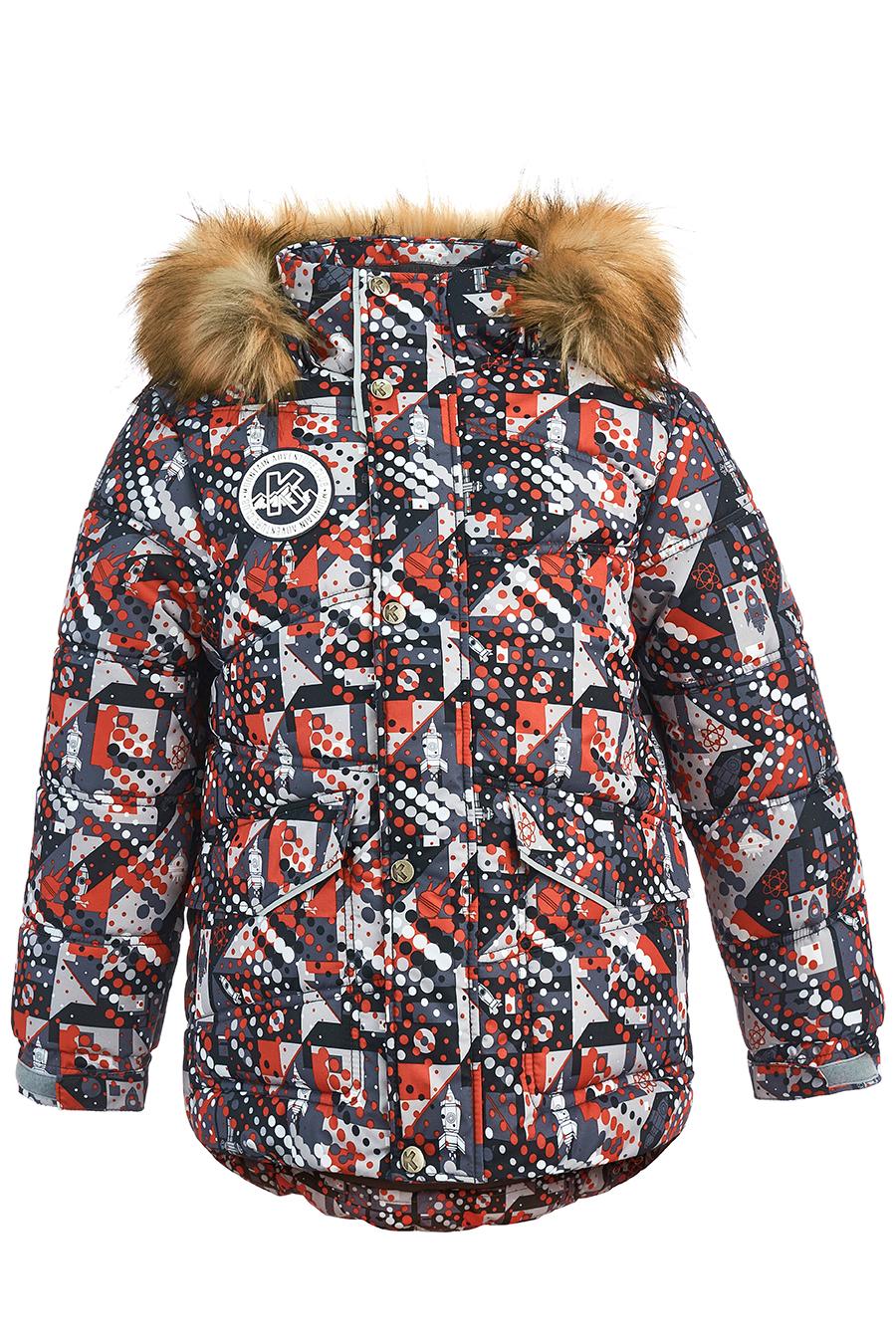 Купить со скидкой Куртка для мальчиков, отделка искусственный мех