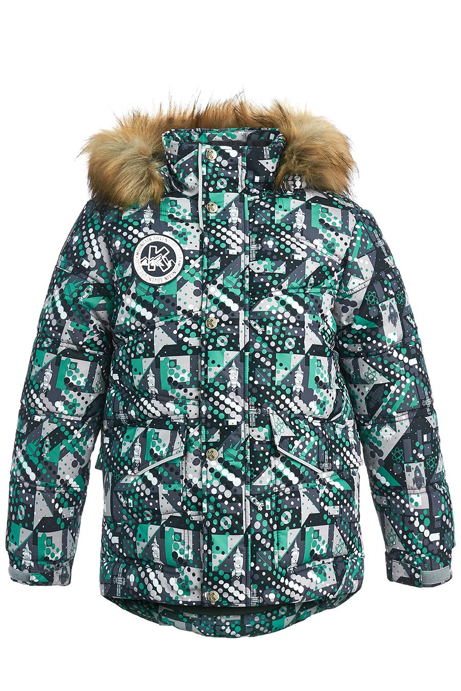 Куртка для мальчиков, отделка искусственный мех