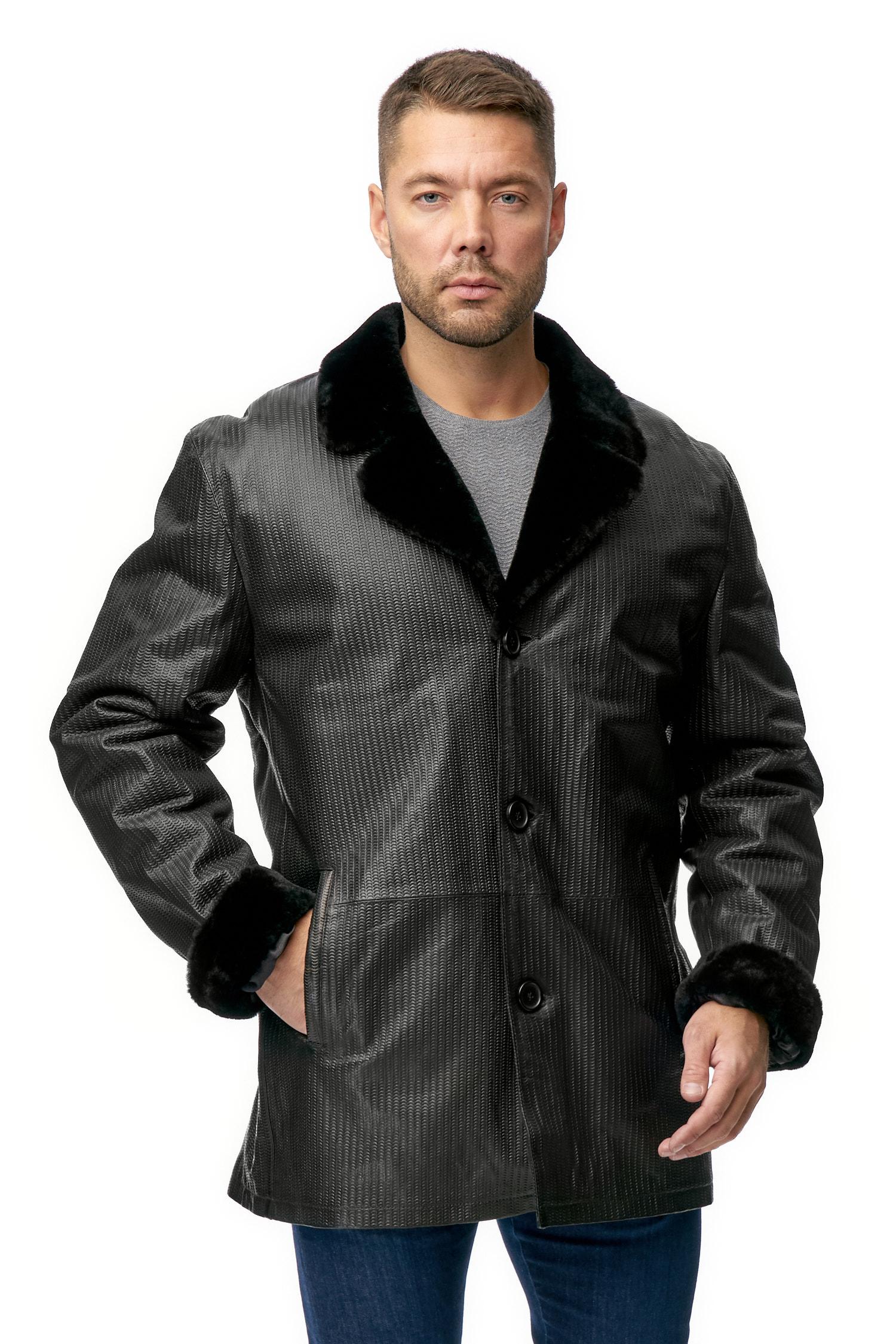 МОСМЕХА мужская кожаная куртка на меху купить