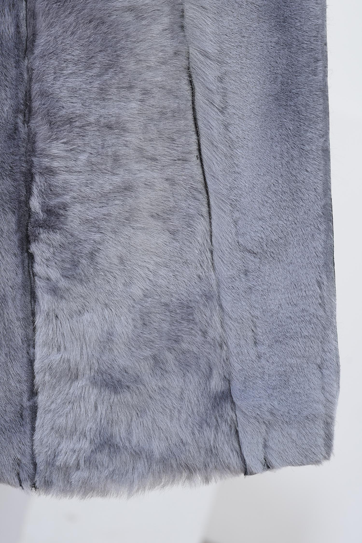 Дубленка мужская из натуральной овчины  с воротником, отделка норка