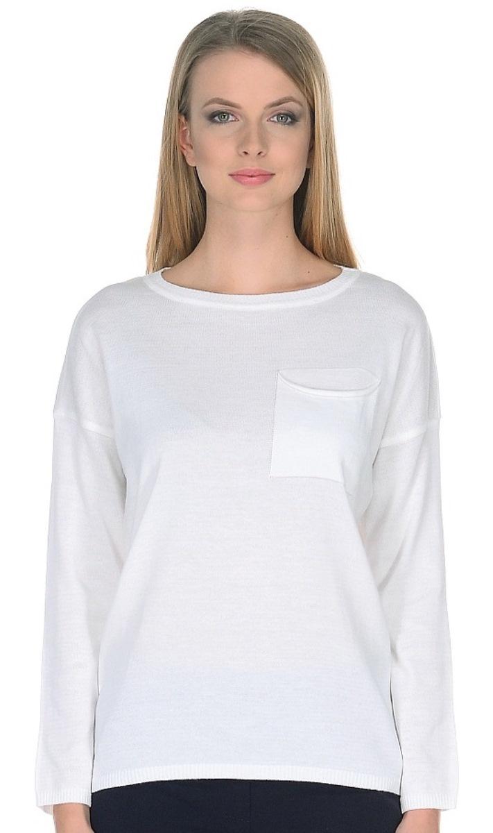Купить Женский джемпер из тестиля, МОСМЕХА, белый, 1000532