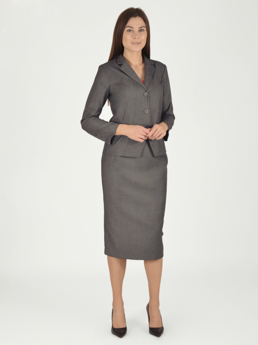 Купить Женский жакет из текстиля, МОСМЕХА, серый, 5400040