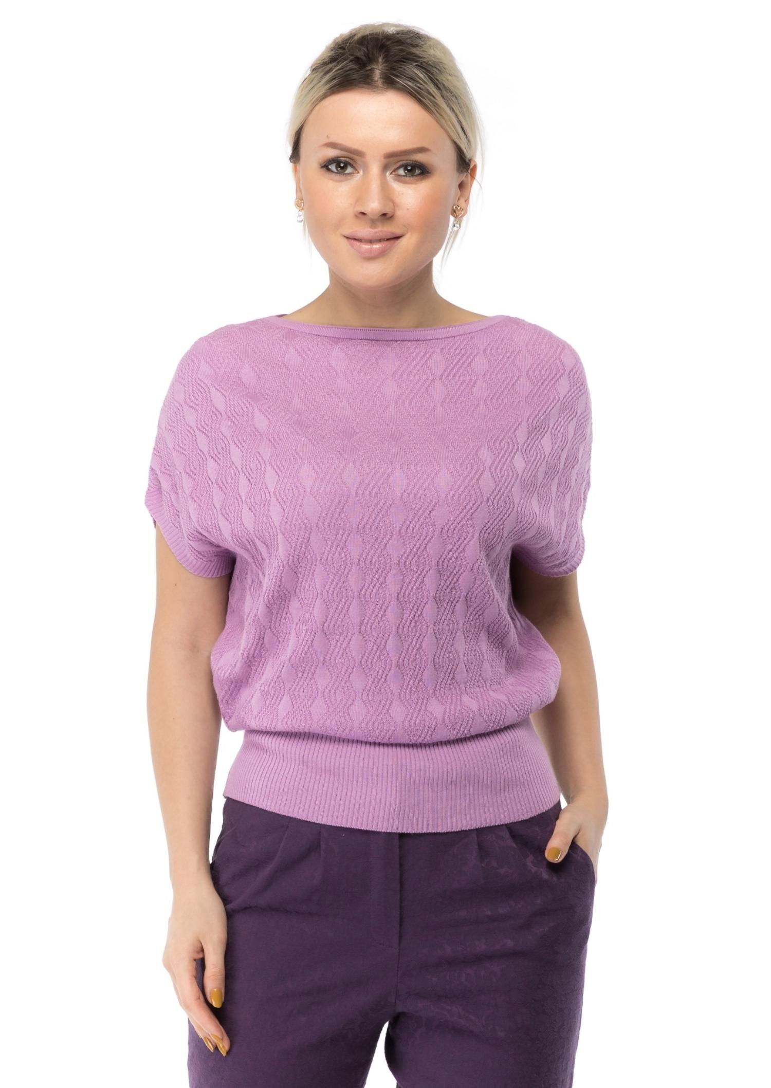 Купить Женский джемпер из текстиля, МОСМЕХА, сиреневый, 1000565