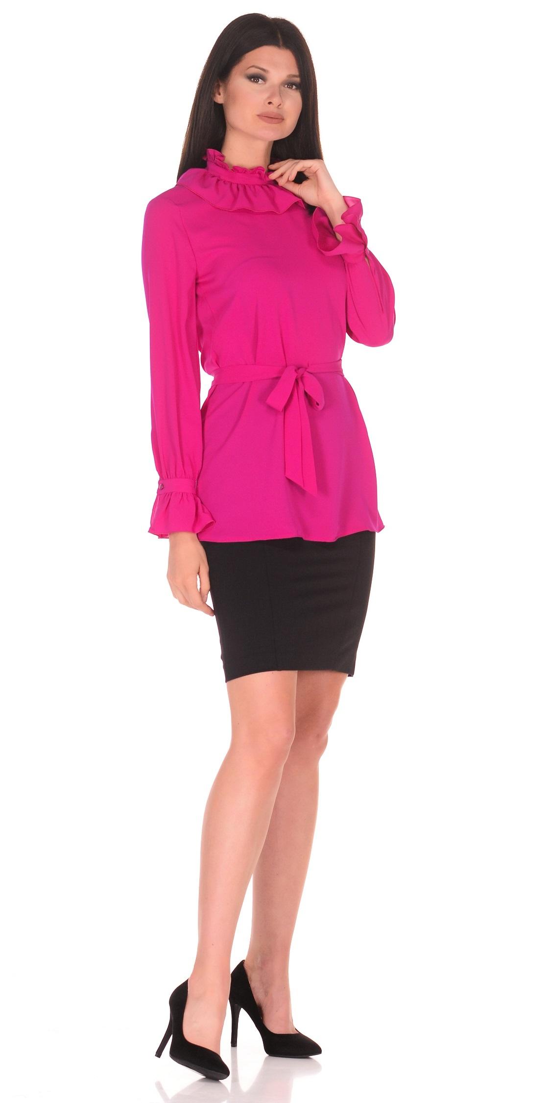 Купить Юбка женская из текстиля, МОСМЕХА, черный, 1000682