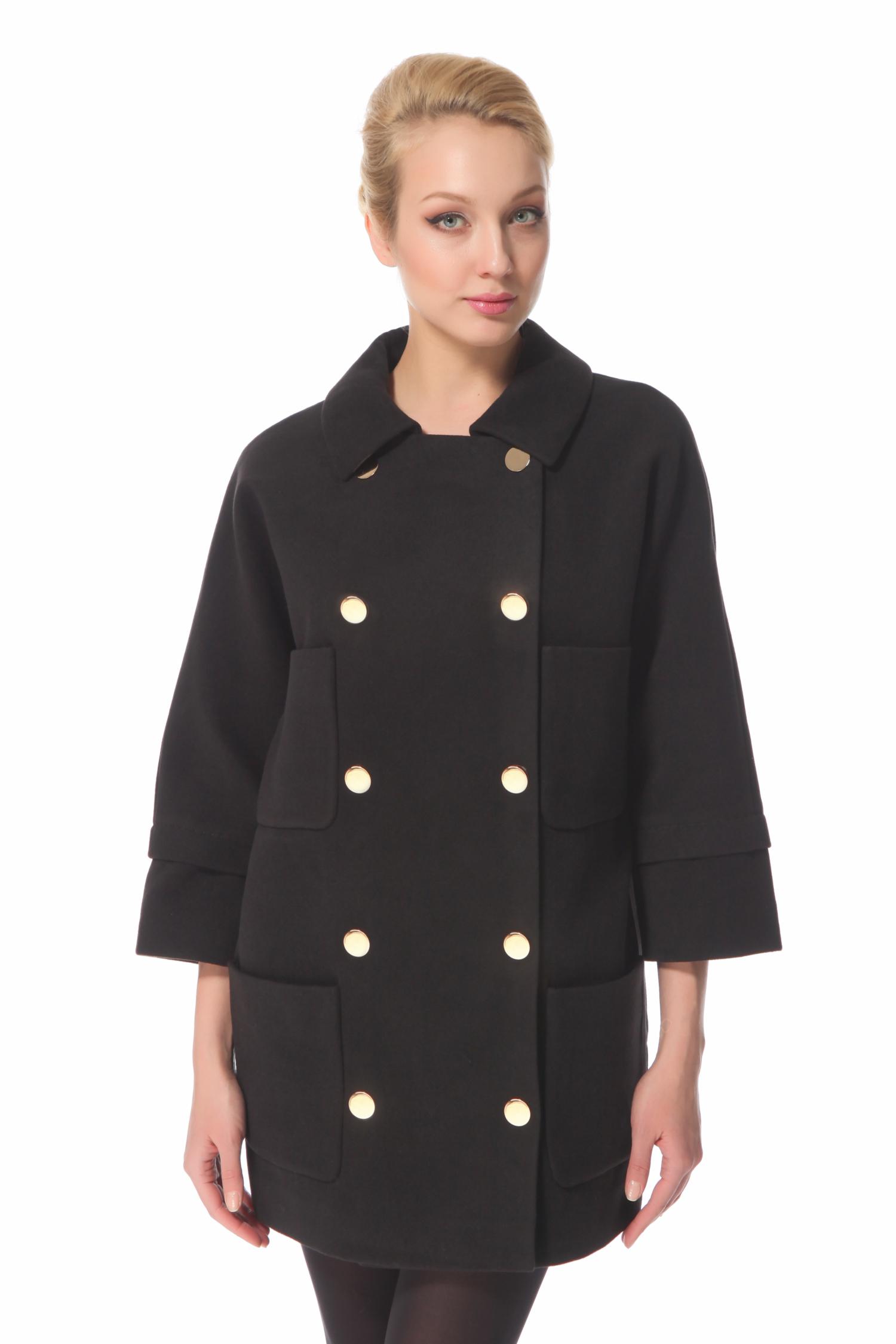 Женское пальто из текстиля с воротником от МОСМЕХА