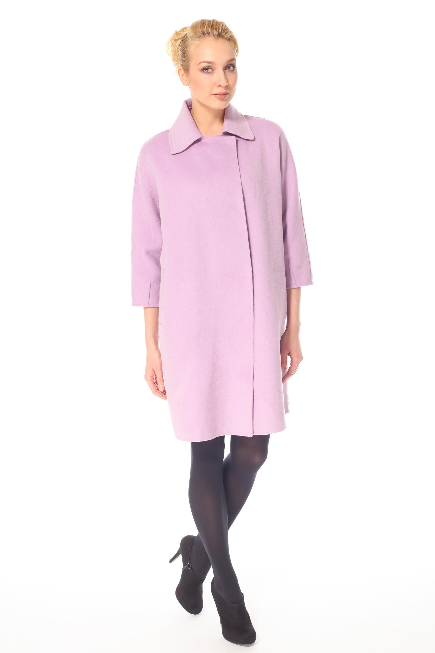 Фото 9 - Женское пальто из текстиля с воротником от МОСМЕХА цвета фуксия