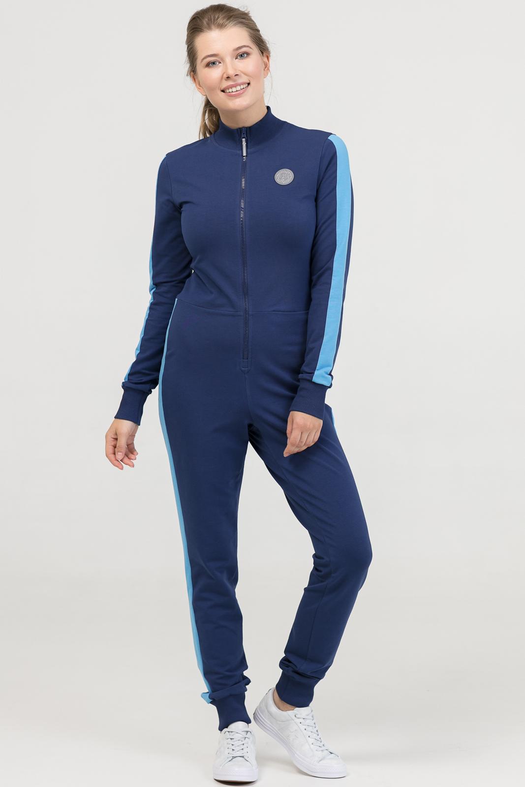 Купить со скидкой Комбинезон Skinny 2.0 синий женский из текстиля