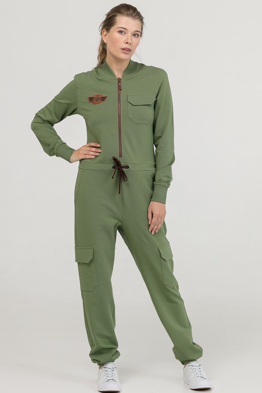 Купить со скидкой Комбинезон Pilot хаки женский из текстиля