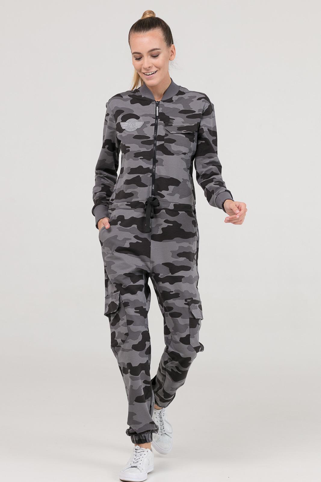 Купить со скидкой Комбинезон Pilot серый камуфляж женский из текстиля