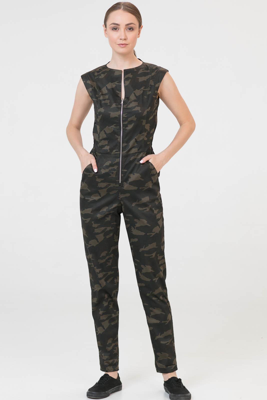Купить со скидкой Комбинезон Army камуфляж женский из текстиля